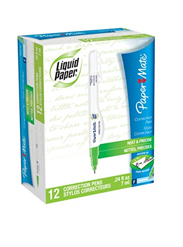 Sanford Liquid (Paper Mate Liquid Paper Correction Pen, 7 ml, 12 Count)