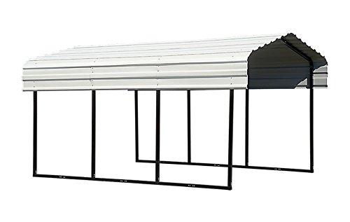 Steel Carport 10 x 15 x 7 ft. Black/Eggshell by ShelterLogic