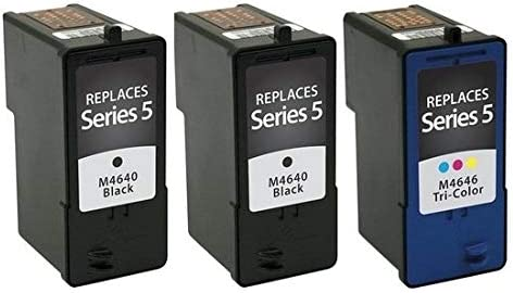SuppliesMAX Compatible Replacement for Dell A922//924//942//944//946//962//964 Inkjet Combo Pack Series 5 310-6273/_3PK//310-6274/_1PKMP 3-Black//1-Color