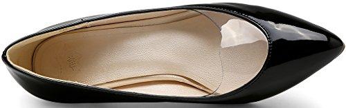 Calaier Women Jtaai Pointed-Toe 6CM Stiletto Slip-on Court Shoes Black N28AlCyzV