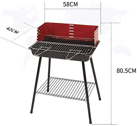 SCRFF Portable Barbecue À Charbon De Bois Barbecue en Acier Inoxydable Barbecue Grill Kits D'outils avec Sac De Transport for Camping en Plein Air Randonnée Pique-Nique
