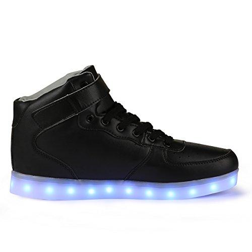 TULUO Enfants USB clignotant pour et chaussures de dessus adultes chaussures chargement LED Haut les sport rqHYxr