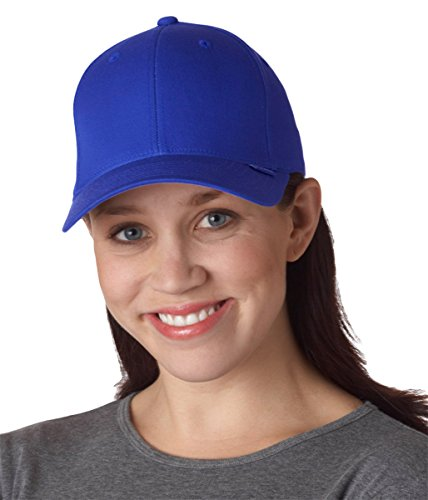 Mid Profile 6 Panel (Flexfit 6-Panel Structured Mid-Profile Cap-S/M (Royal))