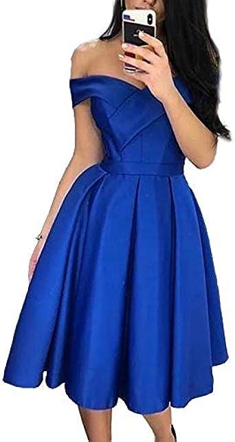 Special Bridal Robes De Bal Courtes Bleu Royal Hors De L Epaule Robes De Bal 2020 Amazon Fr Vetements Et Accessoires