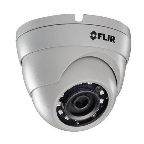 (Digimerge PE133E FLIR's 3MP Fixed HD IP Housings 25FPS IR Night Vision Mini Dome Camera, White)