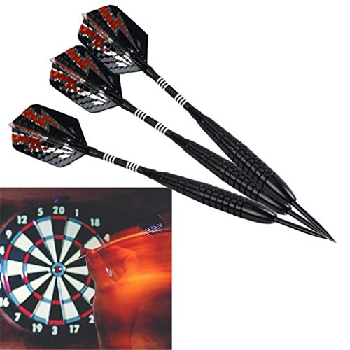 LIZHIHUI Darts,Soft Darts for Indoor Game,Darts Accessories 3 Pcs Professional 20G Soft Darts Electronic Soft Tip with Chrome-Plated Iron Shaft Outdoor Sports Flights ()