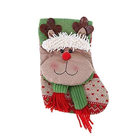 (Decorative Decorative - Christmas Socks Soft Santa Claus Snowman Elk Sock Children Candy Gifts Bag Tree Hanging Pendant Home - Gifts Fabric Bag Candy Kids Poinsettias Santa Home Gift Decorated)