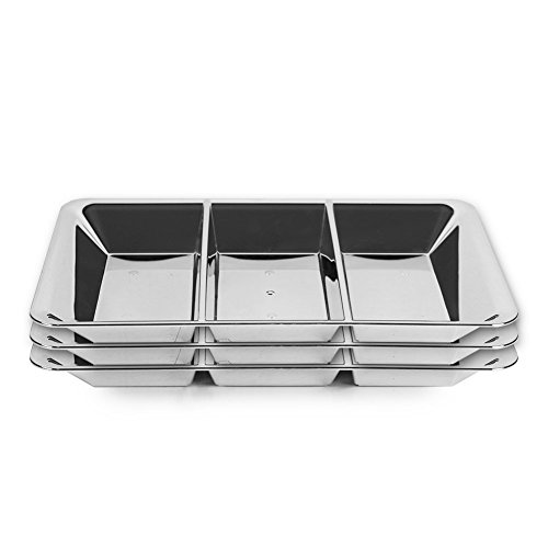 Section Compartment Plastic Appetizer Platter