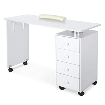Amazon Com Mobile Nail Art Desk With 4 Drawers Manicure Station