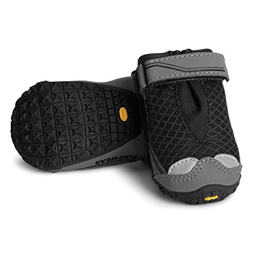 Ruffwear - Grip Trex, All-Terrain Paw Wear for Dogs, Obsidian Black, 2.75 in (Set of 4) by Ruffwear