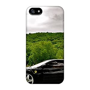 Iphone 5/5s Case Cover - Slim Fit Tpu Protector Shock Absorbent Case (black Ferrari) by icecream design