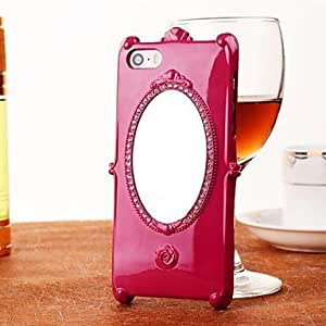 DD The Roses Set Auger Mirror Pattern PC Case for iPhone 5/5S(Assorted Colors) , Wine