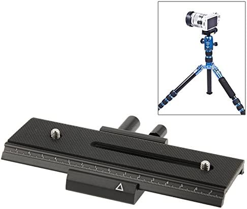 WEIHONG Black WEIHONG Tripod 2-Way Macro Focus Rail Slider Long-Type Tripod Head Plate