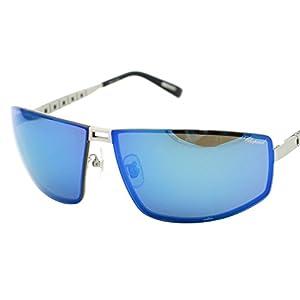 Chopard SCH B02 S80P Men Titanium Japan Blue Flash Polarized Racing Sunglasses