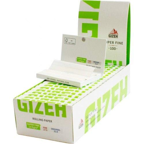 Gizeh Closed Box of 20x100 Booklets Magnet Closer Rolling Papers Super Fine 12.0 -