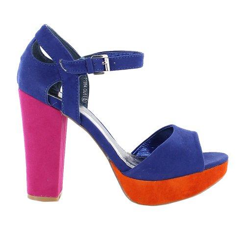 Footwear Sensation - punta abierta mujer Naranja - naranja