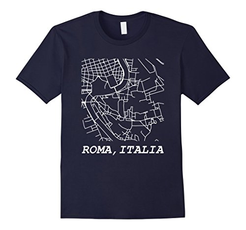 Mens MapShirts: Roma, Italia. Rome, Italy, Map Tee. Small - Map Shops Forum