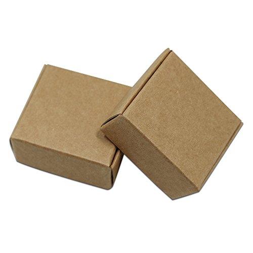 100Pcs/Lot Blank Kraft Paper Box Packaging Small Cardboard Handmade Soap Gift Box for Wedding
