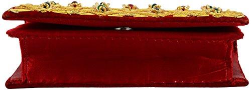 DUCHESS DUCHESS gold Femme Maroon Maroon Pochettes Femme Pochettes qSxSwatB4