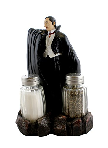 Count Dracula Vampire Salt and Pepper Shaker Set with Glass Shakers By DWK