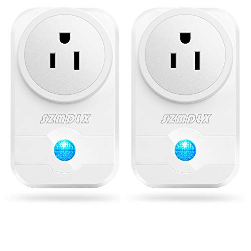 SZMDLX Smart Plug, Smart Outlet WiFi Plug Wireless Outlet WiFi Timer Plug Remote Control by Smartphone Compatible with Alexa Google Home No Hub Required (2 Pack) - Control Phone