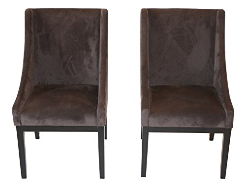 Home Life Contemporary Microfiber Modern Sofa Arm Chairs (Set of 2), Dark Brown ()
