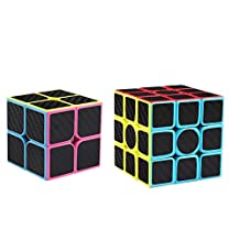 Coogam Zcube Carbon Fiber Cube Bundle 2x2 3x3 Speed Cube Puzzle Toy