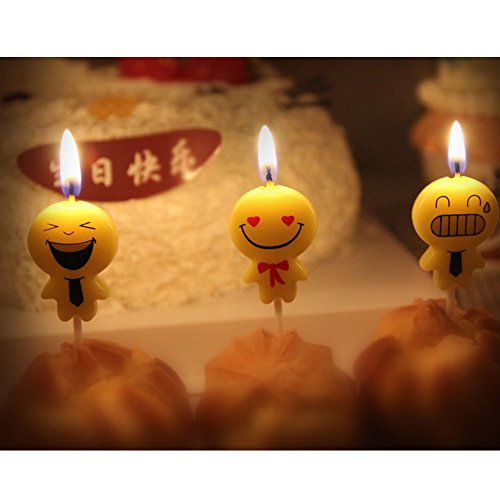 Birthday Candles Cute Emoji Themed Party For