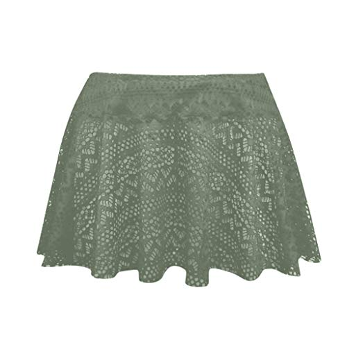 OrchidAmor 2019 Womens Lace Crochet Skirted Bikini Bottom Swimsuit Short Skort Swim Skirt ()