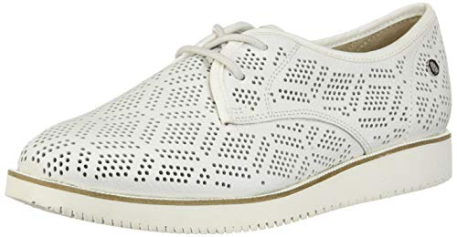 Hush Puppies Women's Chowchow Perf Lace Pump White Leather 7 M US