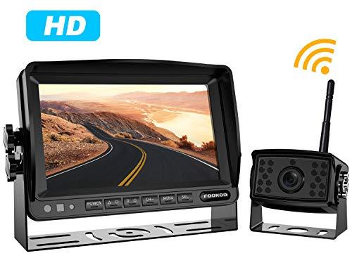 720P HD Digital Wireless Backup Camera System Kit,No Interference,IP69 Waterproof Wireless Rear View Camera + 7'' LCD Wireless Reversing Monitor for Truck/Semi-Trailer/Box Truck/RV ()