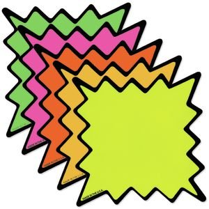 Bold Outlined Starburst Signs Pack of (Starburst Signs)