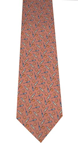 Vineyard Vines Men's Screwdriver Silk Tie (REG, Peach)