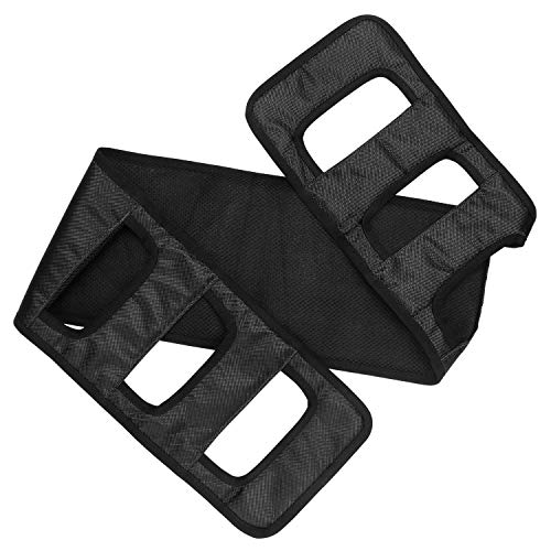 Modudu Transfer Belt Patient Lift Board Belt Transferring Turning Handicap Bariatric Patient Patient Care Safety Mobility Aids Equipment (Black) by Modudu