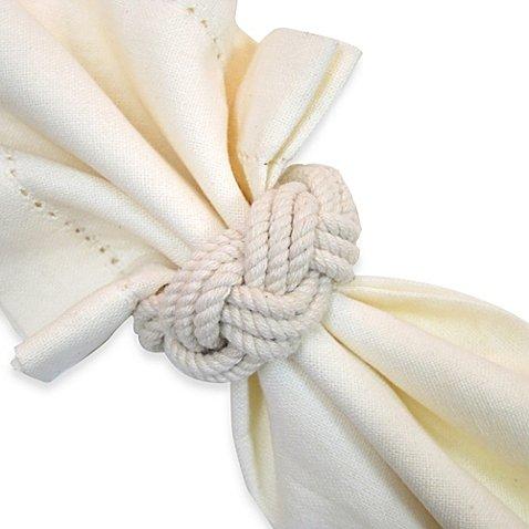 Nautical編みロープナプキンリング   B01N6NJIYS