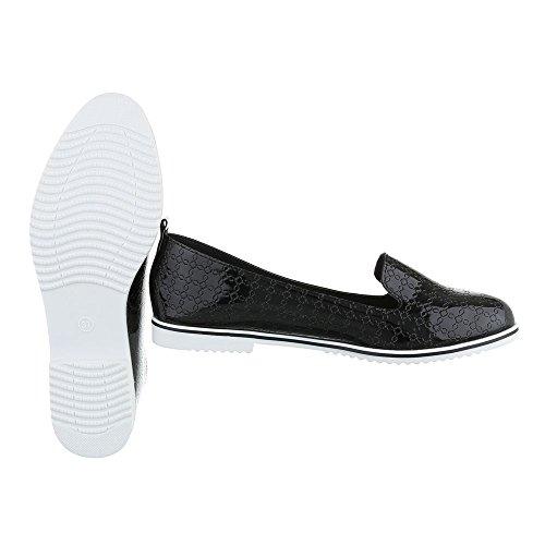de negro Ital Zapatillas casa Mujer Design wAAZY