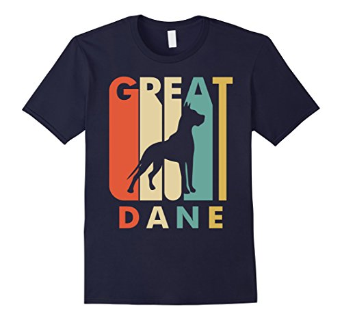 Mens Vintage Style Great Dane T shirt 2XL Navy Dane Vintage Colors
