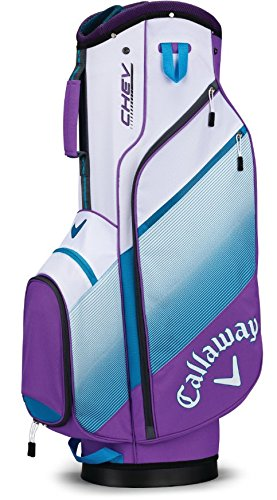 Callaway 2018 Chev Cart Bag Violet/Teal/White
