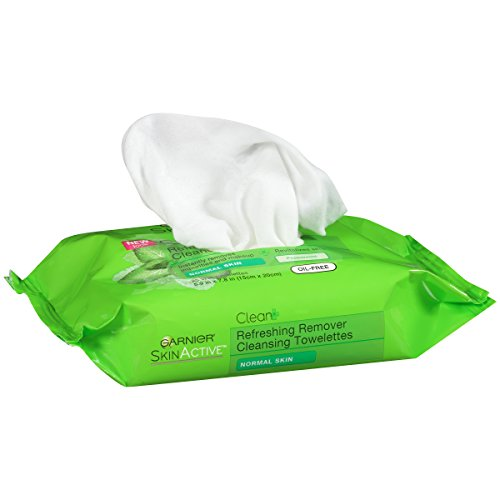 Garnier SkinActive Clean+ Refreshing Makeup Remover Wipes, Normal Skin, 25 ct.