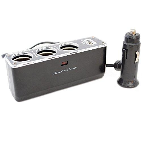 Car Cigarette Lighter Splitter Accessory