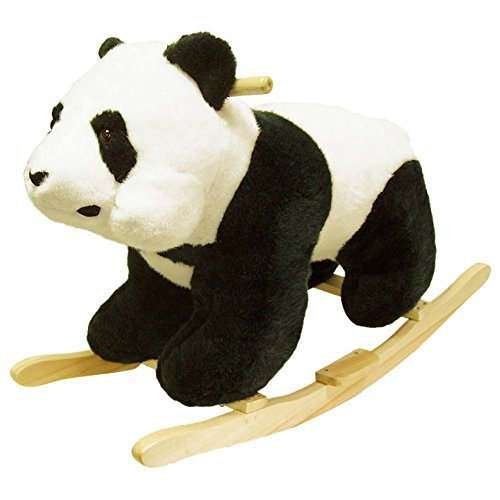 Happy Trails Panda Plush - Panda Plush Rocking Animal, Rocking Plush Animal by Happy Trails