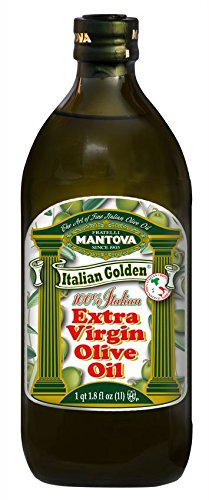Mantova Golden Italian Extra Virgin Olive Oil, 34-Ounce Bottles (Pack of 2) - Healthy EVOO - Perfect for Salads and Dressings