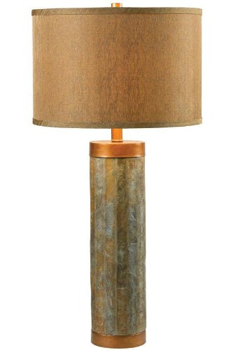 - Kenroy Home 21036SL Mattias Table Lamp, 30 Inch Height, 15 Inch Diameter, Slate Green