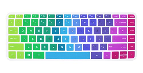 Silicone Keyboard Cover Skin for 14 inch HP Pavilion 14-ab 14-ac 14-ad 14-an, HP Stream 14-ax, HP ENVY 14-j0 Series, 14-ab010 14-ab166us 14-ac159nr 14-an010nr 14-an013nr 14-an080nr - Hp Stream Skin