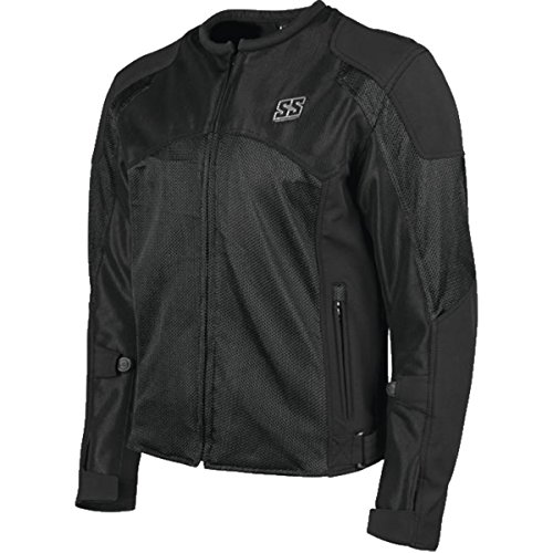 Speed and Strength Midnight Express Mesh Men's Street Motorcycle Jacket - Black/Large