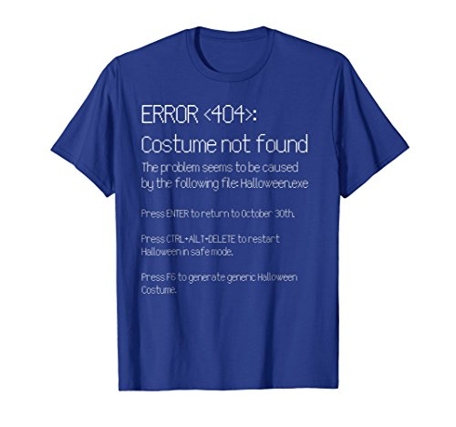 Mens ERROR 404: COSTUME NOT FOUND - Easy