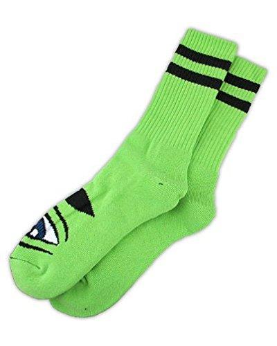 Toy Machine Adult Sect Eye III Socks, Green, One Size (Toy Machine Sect Eye Socks)