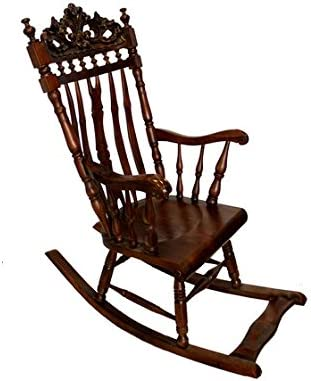 Classic Style Wooden Rocking Chair Amazon Co Uk Kitchen Home