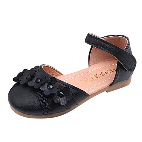 - ❤️ Sunbona Toddler Infant Kids Baby Girls Ballet Flats Summer Mary Jane Flower Woven Floral Princess Shoes Sneaker Sandals