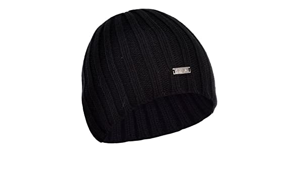 55cd281eb4f FILA Chunky Cable Knit Winter Woolly Beanie Hat – Black  Amazon.ca   Clothing   Accessories